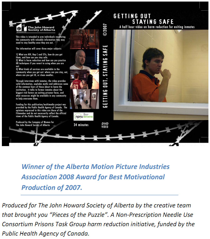 Getting Out Safe Produced by the John Howard Society